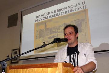 """Predavanje Vojislava Martinova """"Istarska emigracija u Novom Sadu u međuratnom razdoblju (1918. – 1941.)"""
